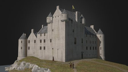 Kilchurn Castle reconstruction 3D Model