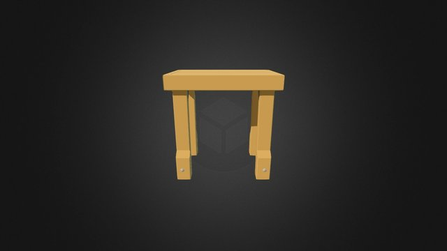 Deck Table Small 3D Model