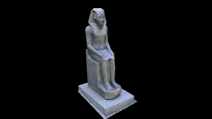 Statue of Amenhotep III 3D Model