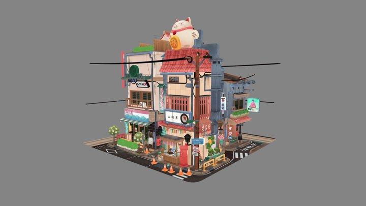 Sketchfab 3D Editor Challenge: Littlest Tokyo 3D Model