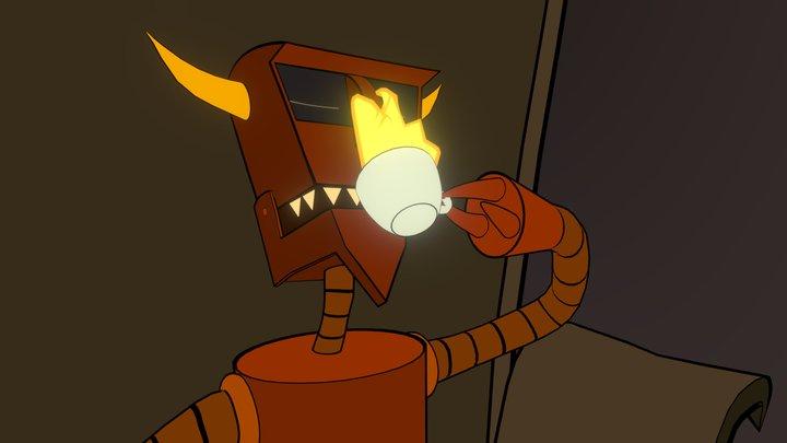 Ah, fire! [Robot Devil   Futurama] 3D Model