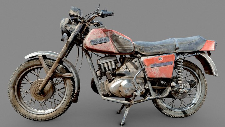 Russian motorcycle 3Dscan 3D Model