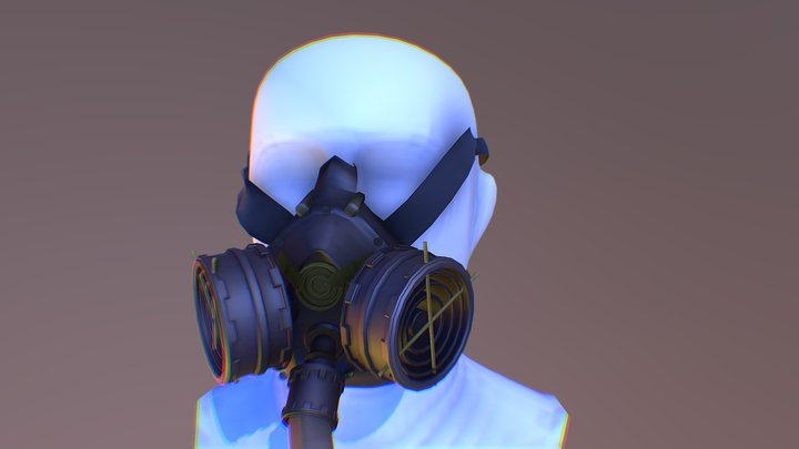 Steampunk mask 3D Model