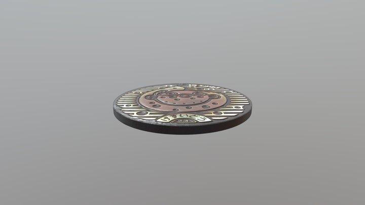 Manhole Cover 1 3D Model