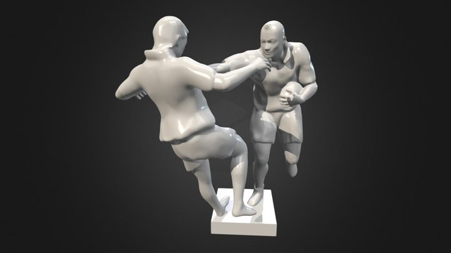 Jonah Lomu , low poly 3d 3D Model