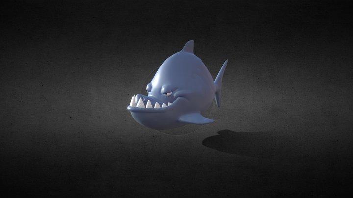 Evil shark 3D Model