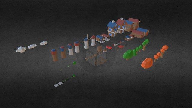 Farm  Models 3D Model