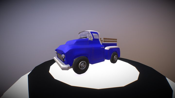 Old low poly pickup 3D Model