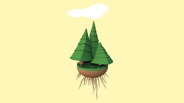 Miniature Forest II 3D Model