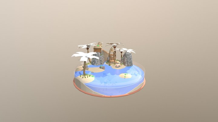 Island3 Almost Complete 3D Model