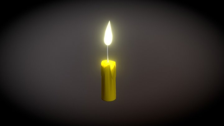 Candle Light Animated 3D Model