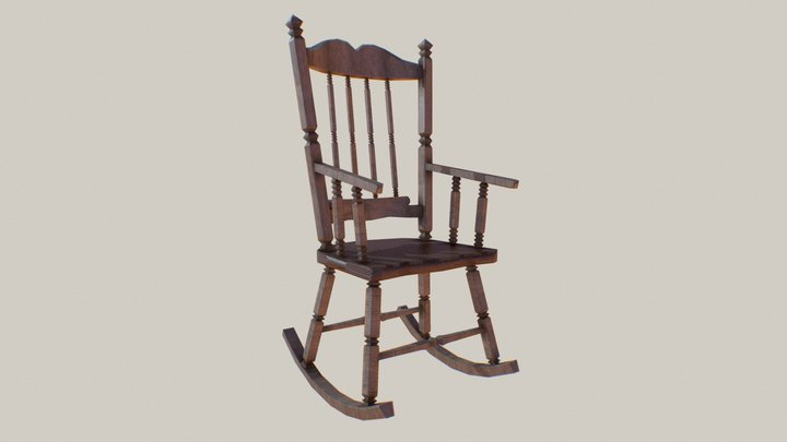 Western Rocking Chair 3D Model