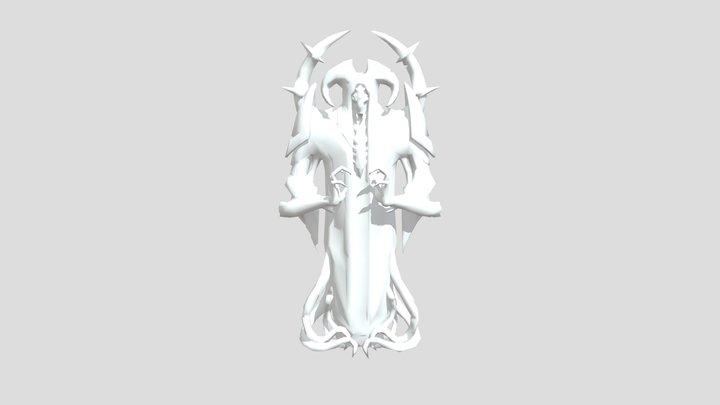 Doom Eternal - Estatua De Culto Maykr 3D Model