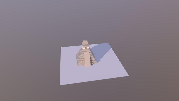 Tikal - Templo I 3D Model