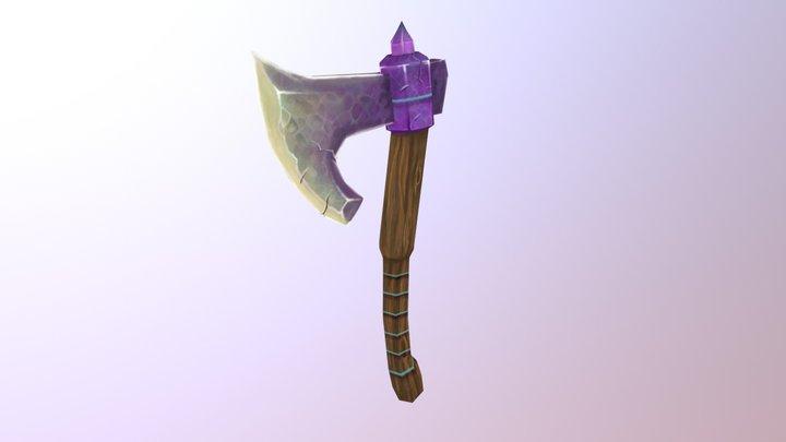 Handpainted Fantasy Axe 3D Model