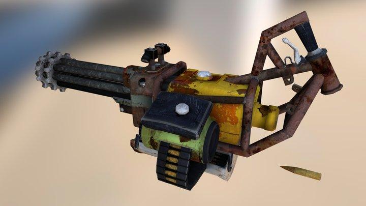 Homemade Minigun 3D Model