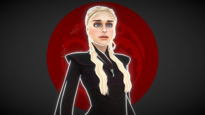 Stylised Daenerys 3D Model