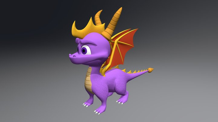 Spyro The Dragon 3D Model