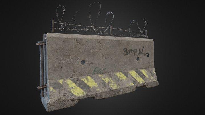 Street Barricade 3D Model