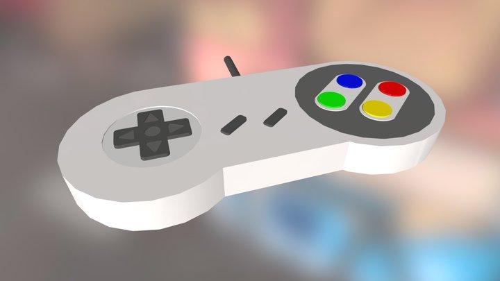 Joystick Super Nintendo 3D Model
