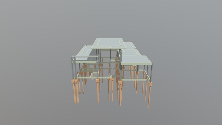 Estrutural - Residência - Junior - MRGA1 3D Model