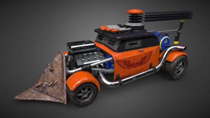 Post-Apocalyptic Car 3D Model