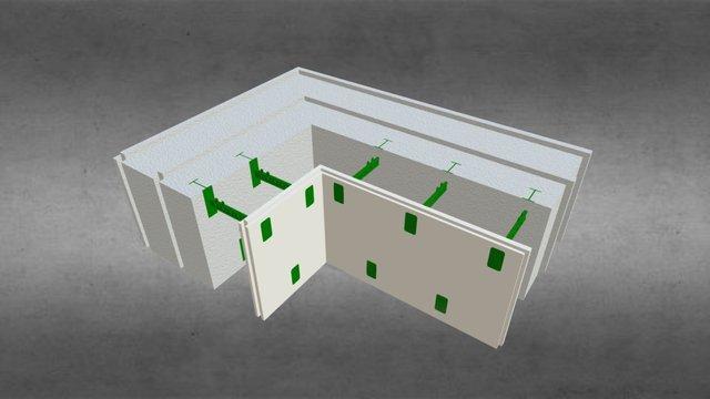 Угловой комблок 300 3D Model