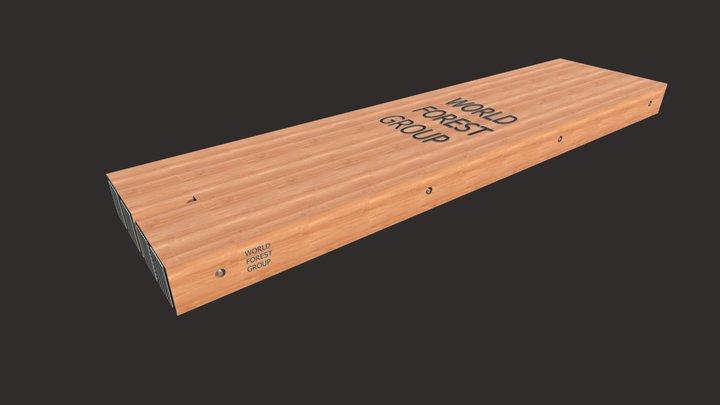 """12""""x48""""x16' OneNotch WFG Eucalyptus Hardwood Mat 3D Model"""