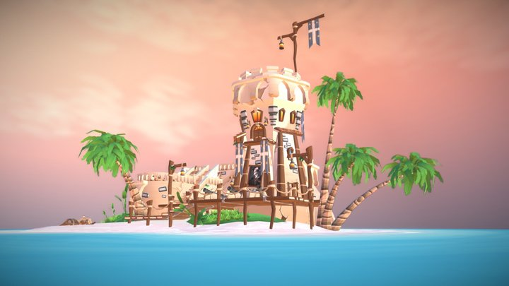 The Lost Bermuda Outpost 3D Model