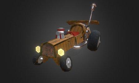 Fantasy Racing Car WIP 3D Model