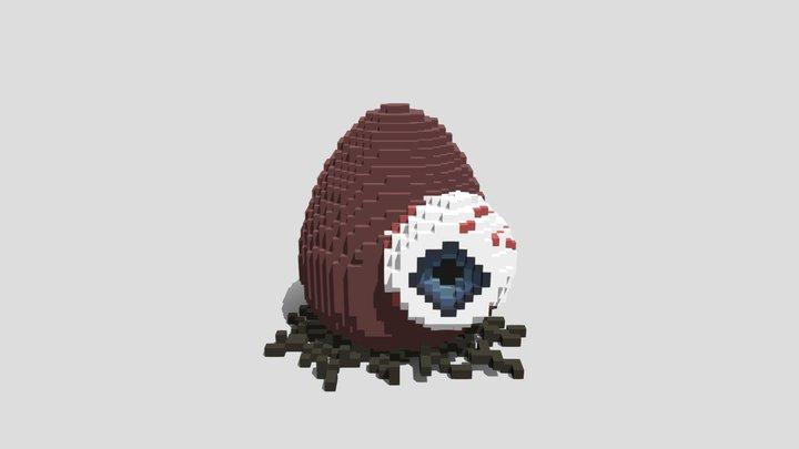 Monster Egg: Eye Voxel 3D Model