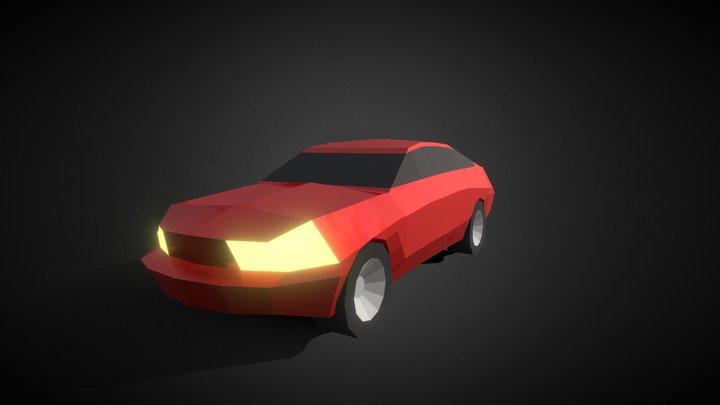 Lowpoly Mustang 3D Model