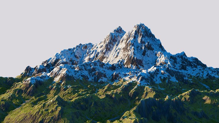 Hero mountain 3D Model