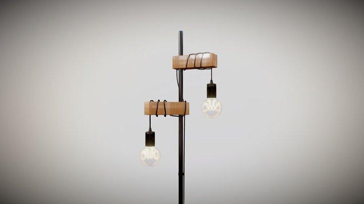 Hanging Industrial Floor Lamp 3D Model