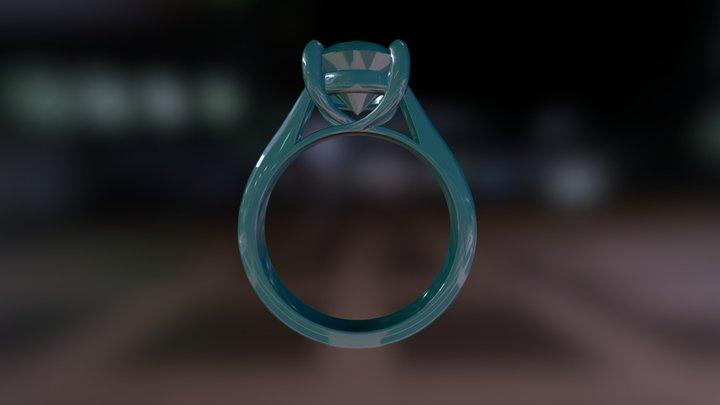 Blue Nile Ring 3D Model