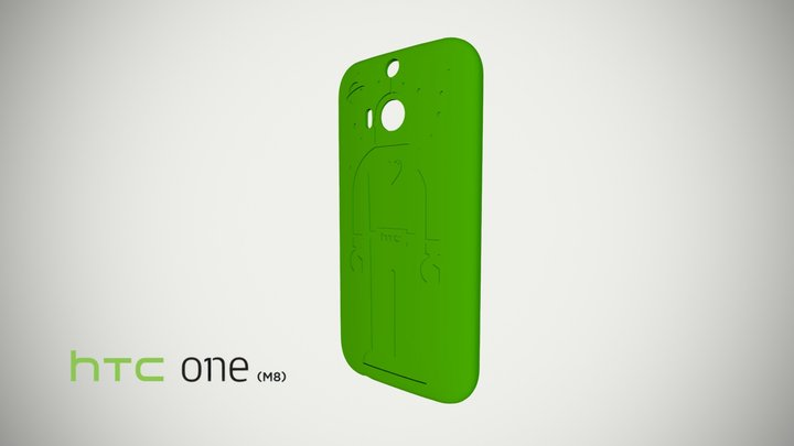 HTC One M8 printable case 3D Model
