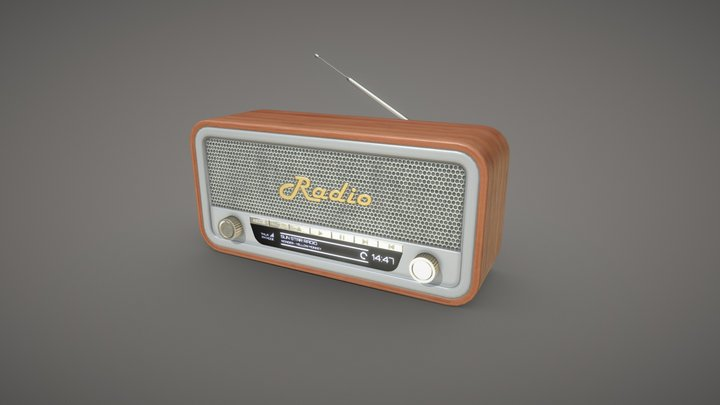 Radio retro stylized 3D Model