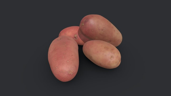 Red Potatoes 3D Model