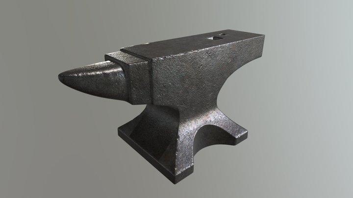 PBR Anvil 3D Model