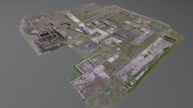 Roman Villa of Pisões (Beja, Portugal) 3D Model