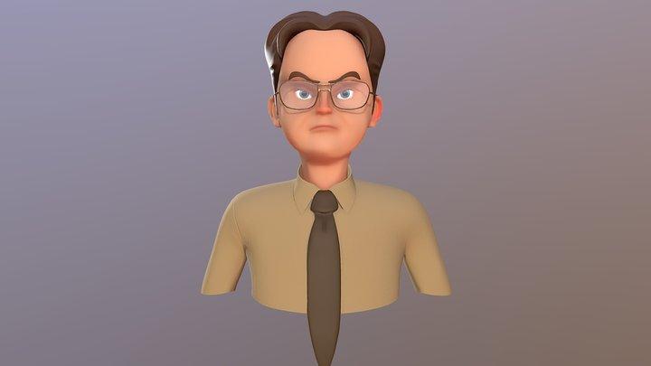 Dwight Schrute The Office Fan Art 3D Model