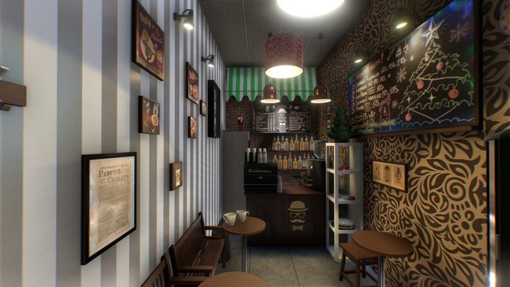 "Coffee house - ""Coffeemoloff"" (real place) 3D Model"