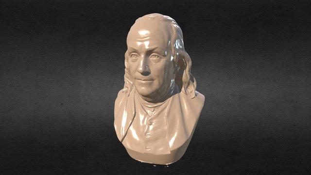 Ben Franklin Bust 3D Model