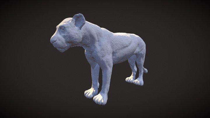 Lioness Sculpt 3D Model