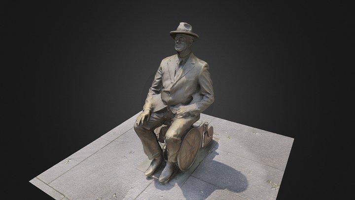 Franklin D. Roosevelt Statue 3D Model