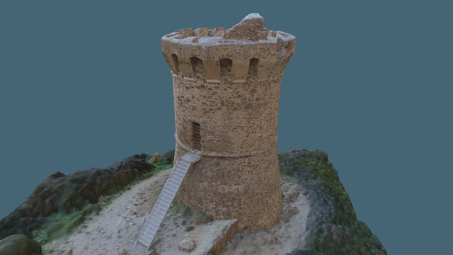 Tour génoise, Fautea, 20124 Zonza 3D Model