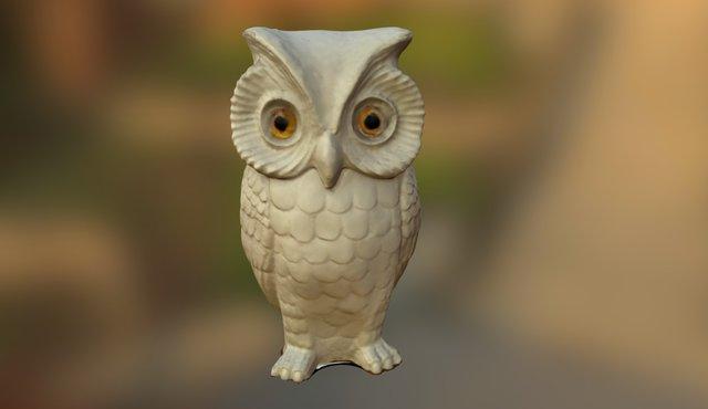 White Owl 3D Model