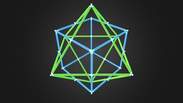 Cube Octahedron Dual 3D Model