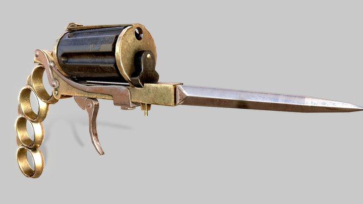 Foldable Revolver 3D Model
