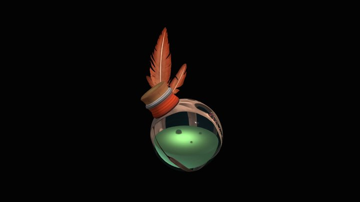 Potion Bottle Study 3D Model